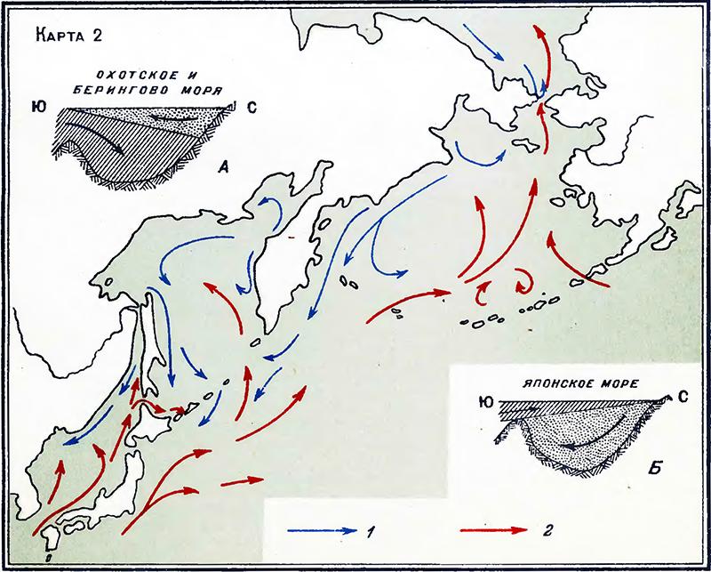 Карта 2. Схема течений в